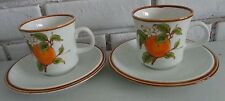 Mikasa Natural Beauty Marmalade Orange Blossoms 2 cups saucers C9003 Japan Vtge