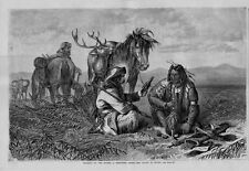 FRONTIERSMAN AND INDIAN TRADING ON THE PLAINS INDIAN SMOKING PIPE BARTER LIQUOR