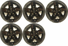 "(5) 2012 JEEP WRANGLER 17"" BLACK WHEEL SKINS / LINERS / HUBCAPS 7907P-17"""