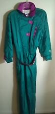 Vintage Fera Skiwear Snowsuit Women's Multicolor Sz 12 Removable Belt