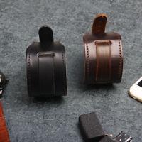 Men's Wide PU Leather Watchband Biker Cuff Wristband Bracelet Fashion Jewelry