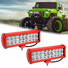 2x 9inch 108w Led Work Light Bar Pods Flood Spot Combo Driving Offroad Fog Lamp