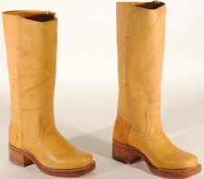 Frye Womens Campus 14L Leather Boots #77050 Size 5.5 M Banana USA $298  Box #49