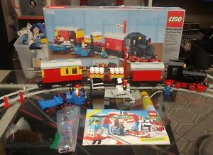 1985 Lego 7722 Steam Cargo Train Postal Close to Complete, Not Working w BOX