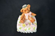 Revolving Teddy Bear Schmid Music Box Signed Yamada- That's What Friends Are For