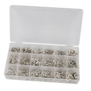 Pack of 420pcs Non-Insulated Crimp Wire Terminals Connectors Kit with Box
