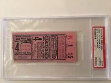 PSA 1934 World Series Ticket Detroit Tigers St. Louis Cardinals gas house gang