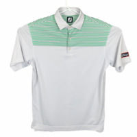 FOOTJOY TITLEIST Tour Issued Mens Sz L Golf Polo Shirt Embroidered Patch Stretch