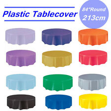 Plastic Table Cloth Colour Round Cover For Wedding Birthday Party Tablecover