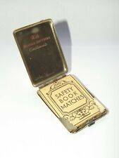 More details for vintage metal nickel matchbook holder, matchbox holder,vesta case c1935