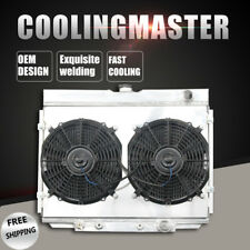 4Row Radiator+Shroud/&Fan/&Thermostat Fit Ford Mustang Falcon Mercury Cougar 63-69