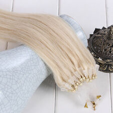 100S 16-26Inch 100% Remy Human Hair Extensions Loop Micro Ring Beads