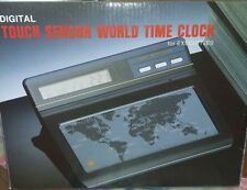 digital touch sensor world time clock