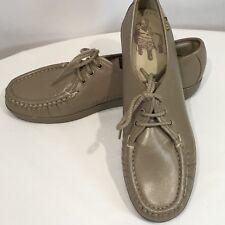 "SAS Shoes ""Siesta"" Oxford Shoe Size 10 S Womens Mocha Lace Up Cushion Sole Work"