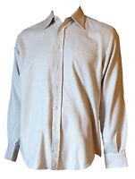 Camicia Collo Regolare Flanella Uomo Tasca Classica Beige LUCA D'ALTIERI 36/37 S
