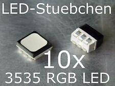 10x 3535 RGB LED SMD PLCC 6 Black Face diffused