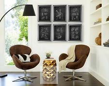 Biking decor set of 6 chalkboard bicycle wall art unframed Bicycle Home Decor