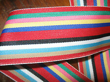 "striped 1 3/4""wide grosgrain ribbon 3 yards"