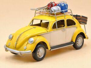 Vintage handmade iron art roof rack for luggage frame decoration beetle model