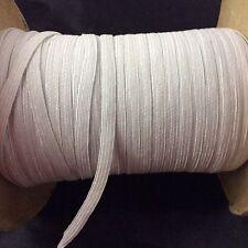 Vintage Spool of 3/16 Inch Elastic White Unknown Yardage Sewing