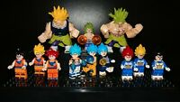 Dragon Ball Super Broly Movie Evolution - Custom Lego Minifigure Display Set
