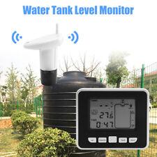 Wireless Ultrasonic Water Tank Liquid Level Meter Temperature Sensor Transmitter