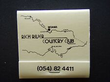 RICH RIVER COUNTRY CLUB I'VE PLAYED AND STAYED AT RICH 054 824411 MATCHBOOK