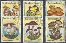 Timbres Champignons Burkina Faso 676/81 o lot 27855