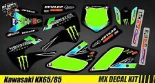 Kit Déco Moto / Mx Decal Kit Kawasaki KX 65/85 - Monster 2