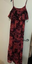 New Look Red Floral Maxi Dress Size 16