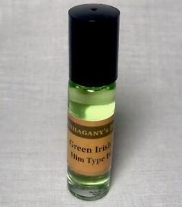 CREED Green Irish Tweed Like Fragrance Roll On Body Oil Men Cologne 1/3 Oz 10ml