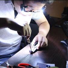 Flexible LED Light Clip On Glasses Torch / Lamp Safety Reading Glasses Lights
