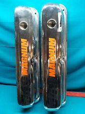 Mopar 273 318 340 360 Chrome Valve Covers Has 340 Magnum On Them