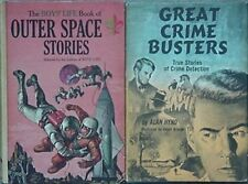 2 BOYS' LIFE BOOKS, 1964,67 (BOY SCOUTS OF AMERICA) OUTER SPACE, CRIME BUSTERS