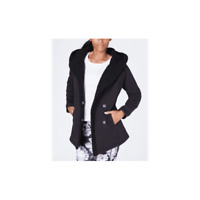 Women's IDEOLOGY Hooded Sherpa Lined Jacket, Black size L NWT 69$