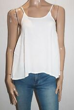 MINKPINK Designer White Open Back Cami Top Size XS BNWT #TE91