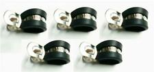 5X Marine Grade Stainless Steel Rubber-Lined P-Clip 13Mm Hose Pipe Clamp M6 Hole