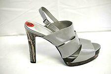 f79df78131 Jessica Simpson Woman's Open Toe Grey Slingback Snake Print Stiletto Sz 10