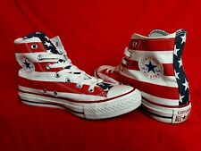 Converse Men 6 Wo's 8 American Flag Stars Stripes Made In USA High Top Sneaker