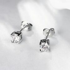 Charles 2ct CZ Created Stud Earrings in 14k White Gold Plated