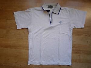 Men's white Polo-shirt, with zipper, Phiten Raku Titan, size XS (more like S-M)