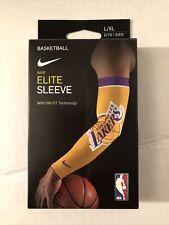 � New Nike Elite Sleeve 'La Lakers' | Nba Basketball | Size: L/Xl