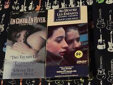Un Coeur En Hiver (A Heart in Winter)(NEW) + Au Revoir Les Enfants (VHS x 2) LOT