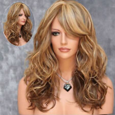 Womens Girls Long Curly Wavy Full Hair Wigs Cosplay Party Costume New