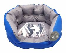 Novelty Dog Pet Bed Cushion Puppy Soft Padded Filling Blue Or Green Or Red New
