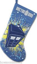 Doctor Who TARDIS Christmas Stocking 2013 Kurt S. Adler Brand New - US Seller