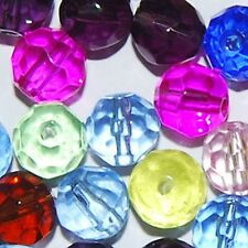 50 X 8mm mixto Vidrio Cristal Facetado Redondo granos / k3618 - 8 Mm