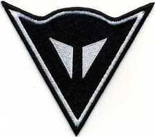 Toppa ricamata patch termoadesiva logo DAINESE nero cm. 10 x 8,5
