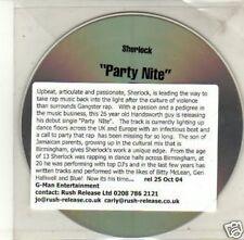 (J522) Sherlock, Party Nite - DJ CD