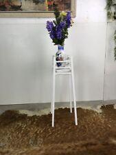 SHABBY CHIC Blumenständer Vintage Landhaus Look weiß Blau Blumensäule 78x30cm